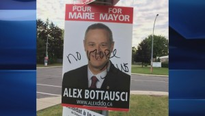 DDO election signs defaced