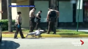 Miami-Dade police release video of officer kicking handcuffed suspect