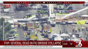 Florida Senator Bill Nelson reacts to bridge collapse at FIU
