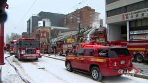 Fire crews battling 3-alarm fire in Chinatown