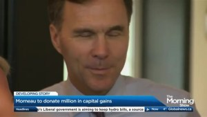 Is Bill Morneau being charitable or admitting guilt?
