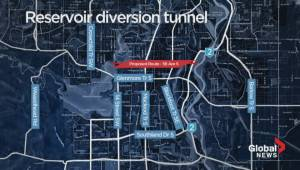 Flood diversion tunnel cost