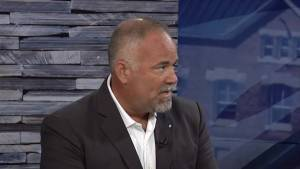 Ontario government House Leader Todd Smiths talks with CKWS TV