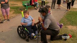 Champions Tour golfers surprise Calgary kids ahead of Shaw Charity Classic golf tournament