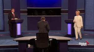 Presidential debate: No handshake for Clinton, Trump at debate's end