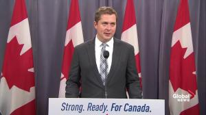 Scheer says Bernier more focused on 'personal ambition' that defeating Justin Trudeau