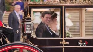 Princess Eugenie, Jack Brooksbank depart wedding by carriage