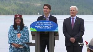 Trudeau says rainforest no place for crude oil tankers