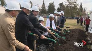 Construction begins on a new affordable housing project in Calgary