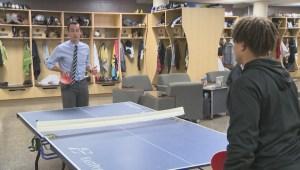 How ping pong unites Manitoba Bisons football team