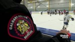 Calgary police hit the rink to connect with kids