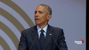 Obama says public must 'resist cynicism' in global politics