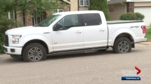 Edmonton crime spree leaves vehicles with slashed tires