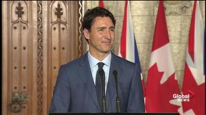 Trudeau said he spoke with Aung San Suu Kyi last week