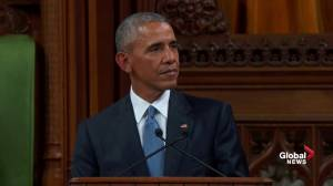 Obama says world has been inspired by Canada, PM Trudeau welcoming refugees