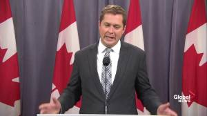 Scheer accuses Bernier of helping Justin Trudeau by quitting party
