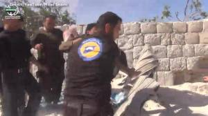 Local activist films aftermath of alleged airstrike on school in Idlib, Syria