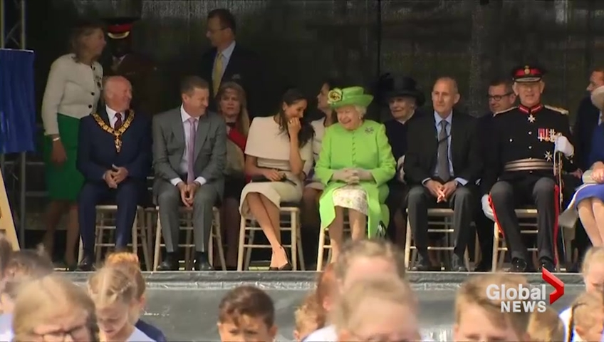 The Queen and Meghan's first outing together