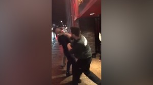 London police investigating after video appears to show bouncer punching man in face
