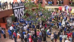 Hundreds of Saint John Sea Dogs fans attend pep rally ahead of Memorial Cup