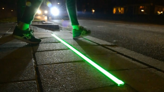 Dutch City Installs Lights In Sidewalk To Help Distracted Phone Users Cross The Street Safely