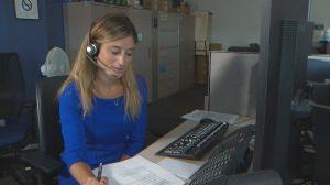 Global News reporter experiences 911 communications operator training scenario