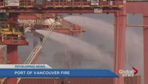 Four alarm chemical fire at Port of Metro Vancouver prompts evacuations
