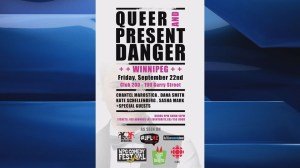 Queer and Present Danger comedy showcase in Winnipeg