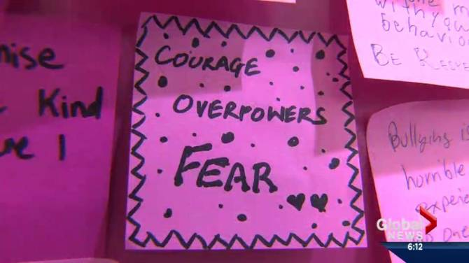 pinkshirtday anti-bullying awareness day in Alberta | Globalnews.ca