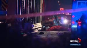 Inspectors look at Low Level Bridge after deadly crash (01:41)