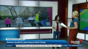 Students prepare to protest as Ontario College strike hits the four week mark (02:14)