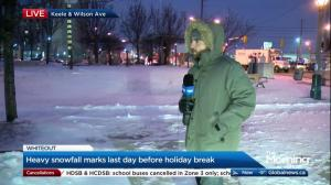 Global News morning show has fun with reporter live on location