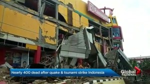 Over 400 dead after earthquake and tsunami strike Indonesia
