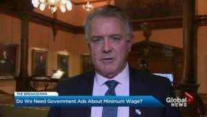 Ontario labour minister defends ads for new minimum wage