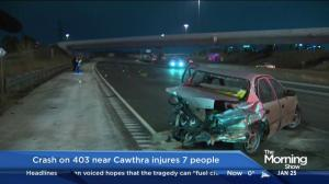 Several ejected from vehicle after crash on 403