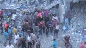 Over 100 now reported killed in Israeli airstrikes on Gaza Strip