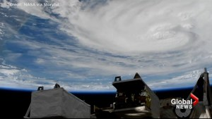 ISS captures breathtaking orbital view of Hurricane Harvey