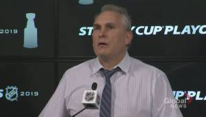 RAW: St. Louis Blues Craig Berube Post Game Reaction – Apr. 12 (05:18)