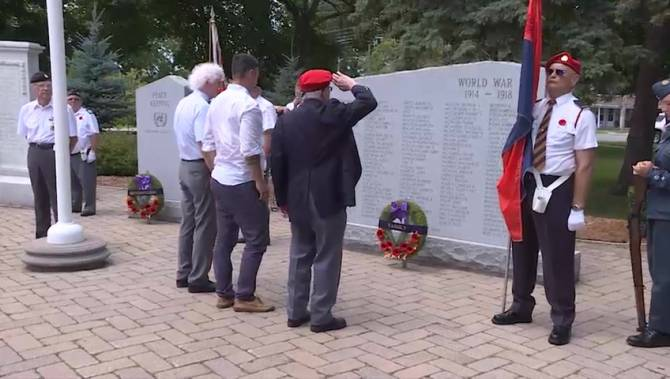 3 names added to First World War tablet in the Belleville cenotaph