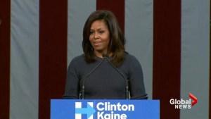 Michelle Obama 'shaken to the core' by Donald Trump 'locker room talk'
