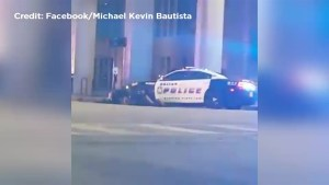 Shootout between Dallas police and suspects caught on camera