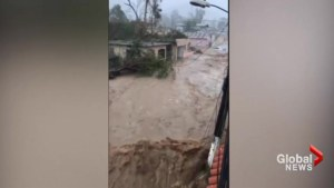 Hurricane Maria leaves behind widespread flooding on Puerto Rico