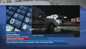 Stranded overnight on the Coquihalla Highway