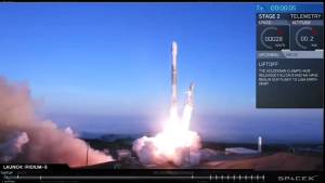 SpaceX Falcon 9 blasts off on latest satellite mission