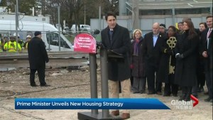 Trudeau announces housing strategy