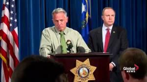 Las Vegas police update timeline in mass shooting