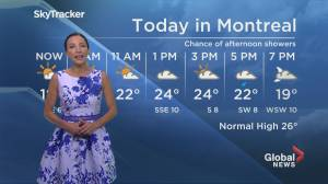 Global News Morning weather forecast: Monday July 22, 2019