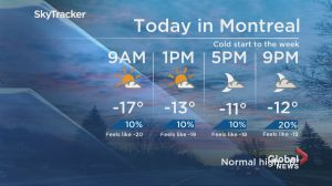 Global News Morning weather forecast: Monday, January 14
