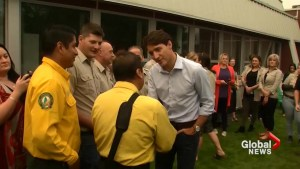 Justin Trudeau meets with officials handling response to B.C. wildfires in Prince George