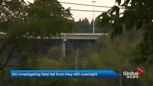Special Investigations Unit probing suspicious death of man who fell off Hwy. 401 bridge